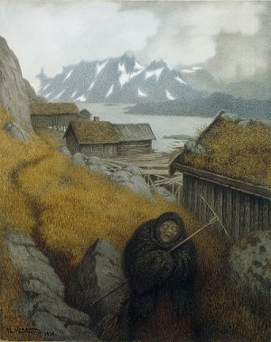 "Th. Kittelsen: ""Pesta farer landet rundt"" (1904)"