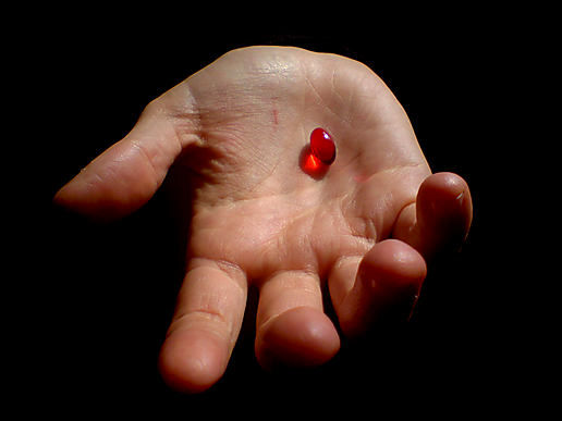 """Now we at the CIA offer the truth and nothing but the truth. Are you ready to take the red pill...?"""
