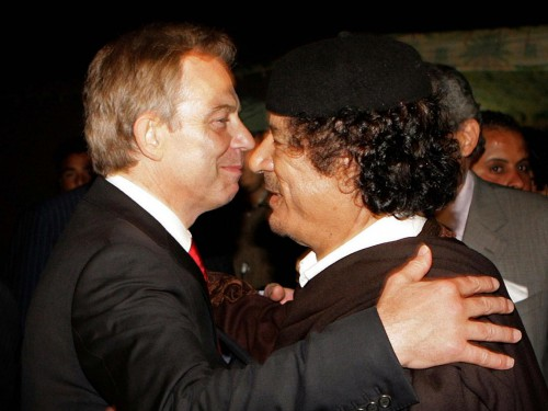 Blair og Gaddafi - Best Friends Forever...