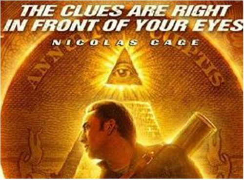THE CLUES ARE RIGHT IN FRONT OF YOUR EYES - supplert av en Illuminati-logo... Illuminatis praksis med Å SKJULE TING I ALL ÅPENHET kan neppe uttrykkes tydeligere...
